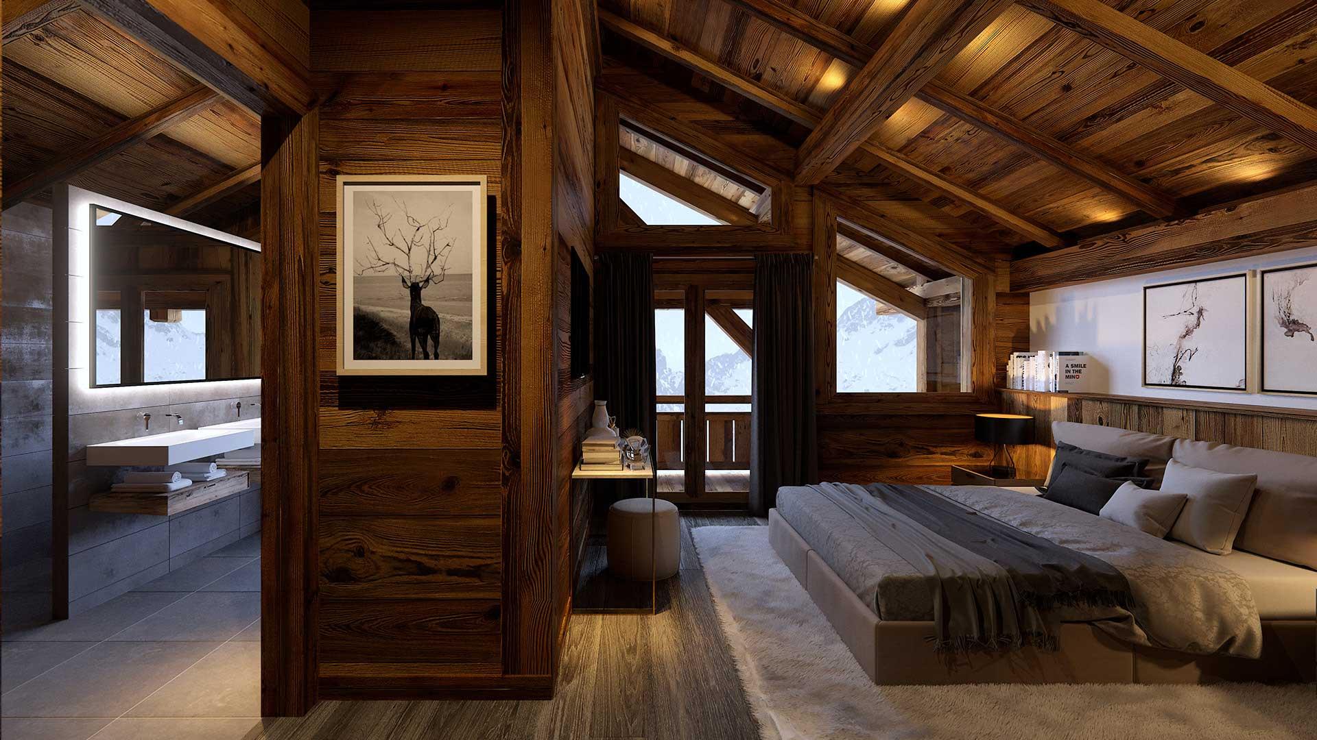 cr ation 3d chambre de luxe 3d studio image num rique france. Black Bedroom Furniture Sets. Home Design Ideas