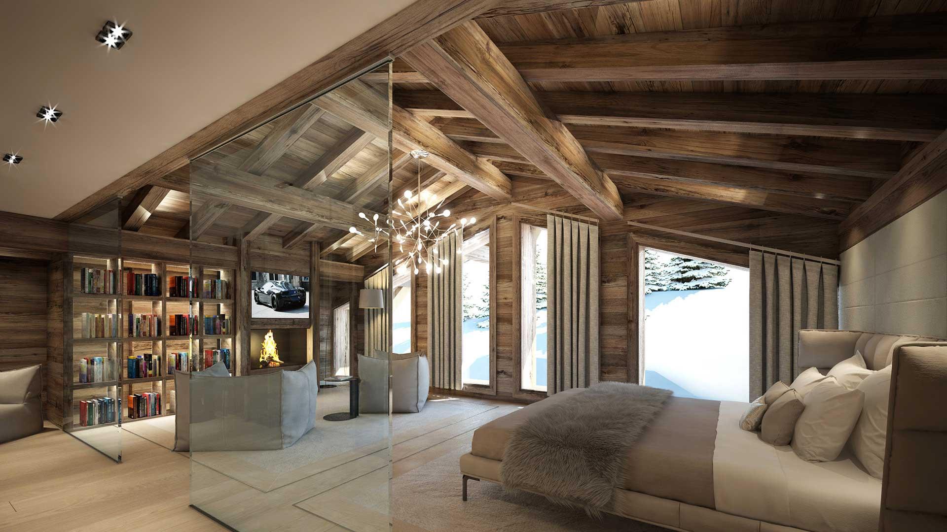 Architecte 3d Photo Dune Chambre De Chalet De Luxe