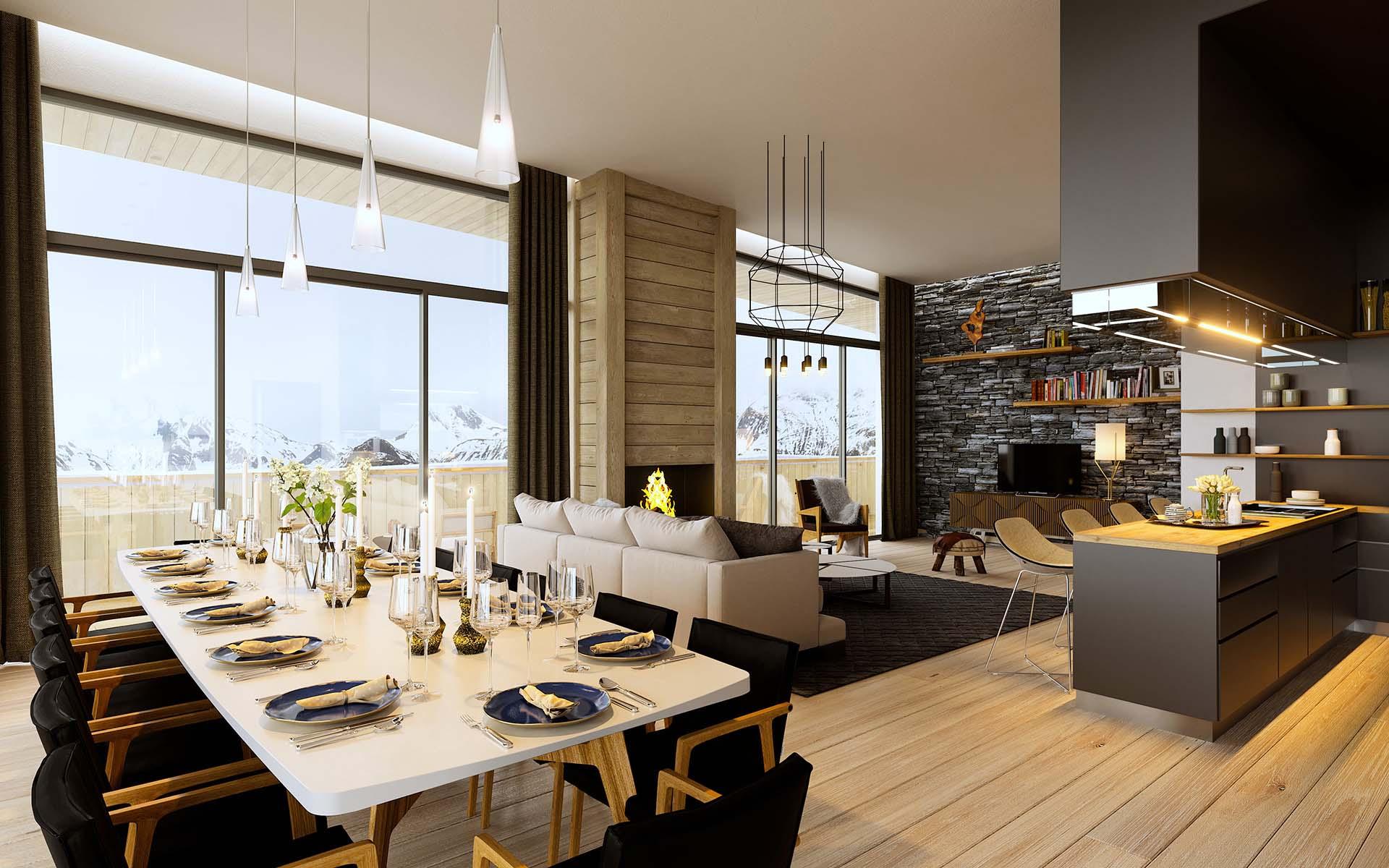 graphisme 3d vue en perspective salon luxe. Black Bedroom Furniture Sets. Home Design Ideas