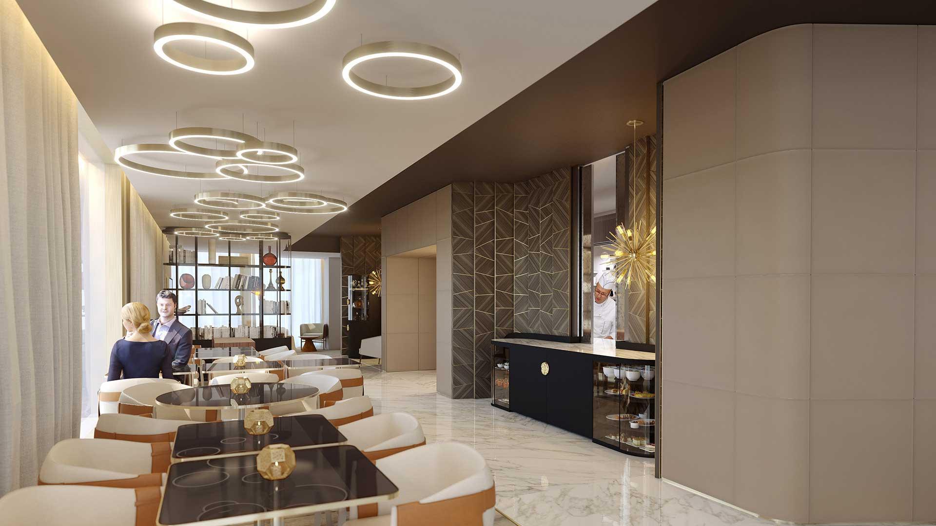 Concours d perspective restaurant de luxe image synthèse