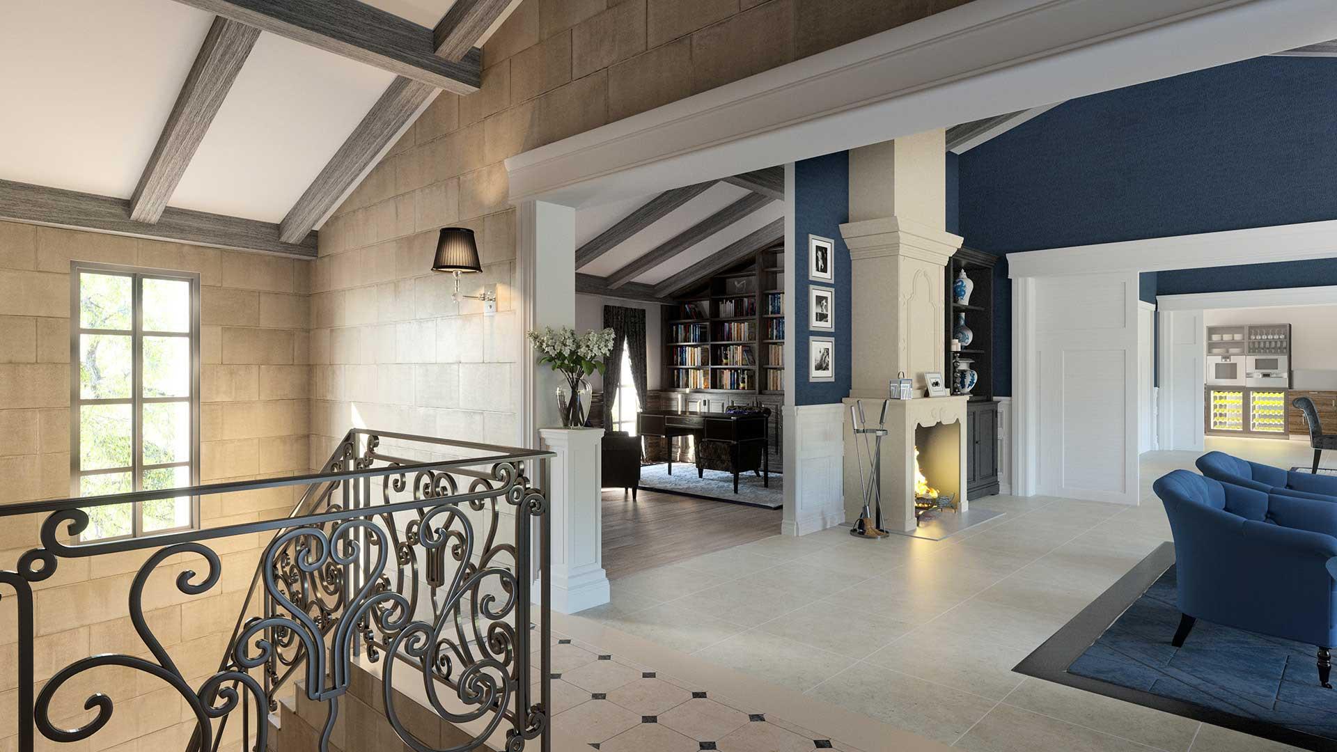 projet architecte 3d : salon de luxe Île-de-ré