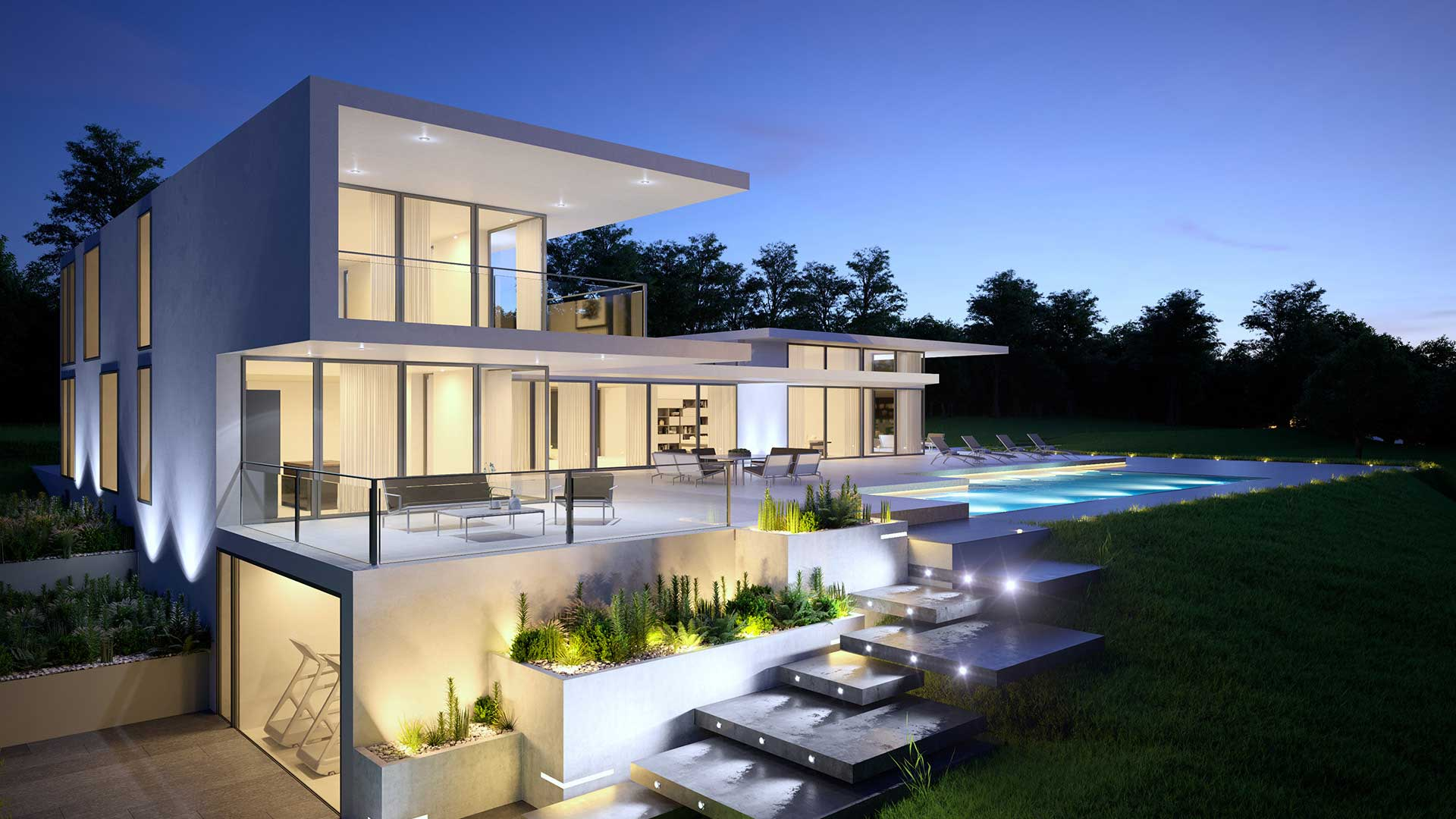 Agence graphisme 3d perspective 3d villa suisse for Agence architecture suisse