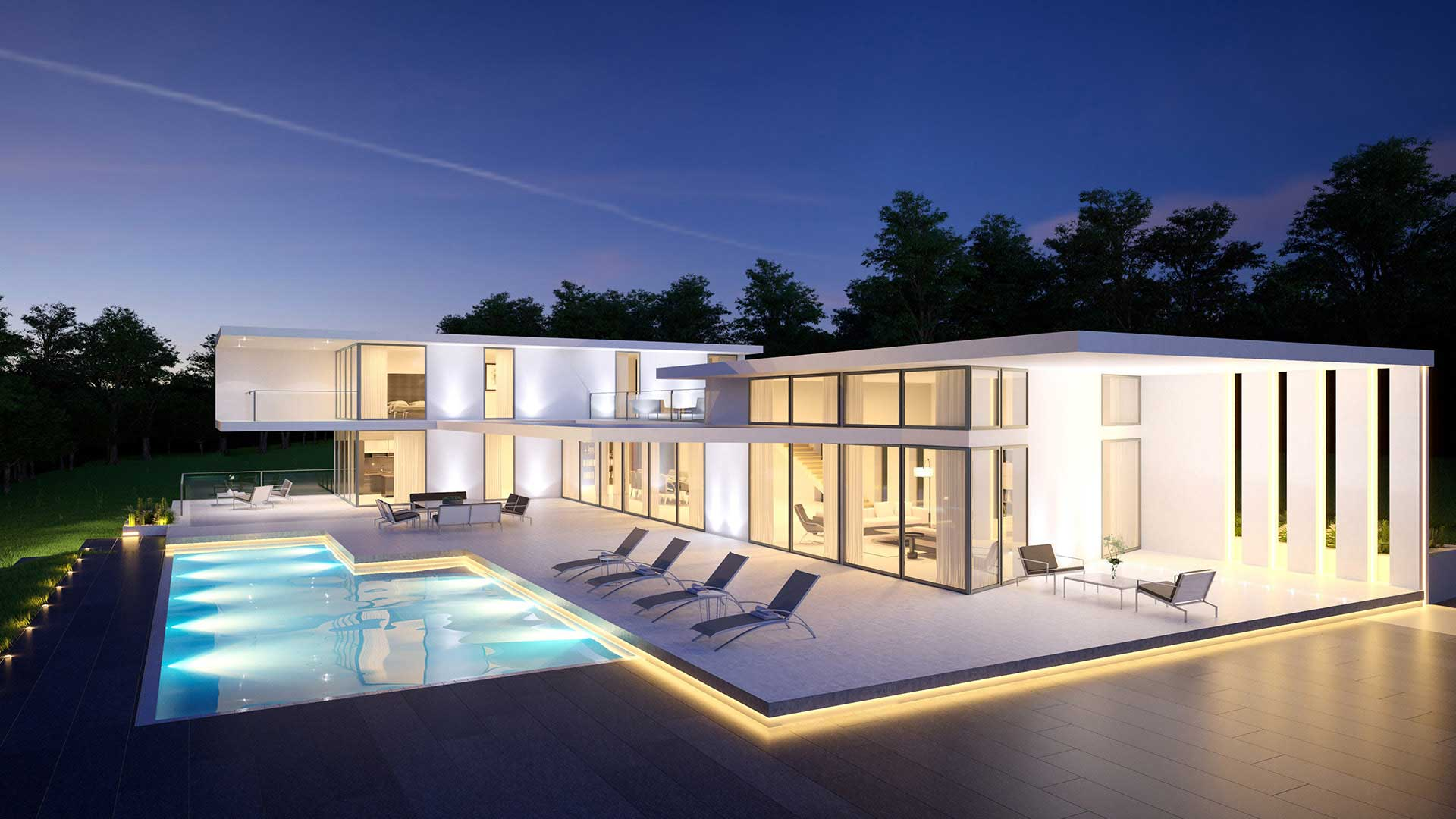 Villa 3D Luxury Switzerland Architecture