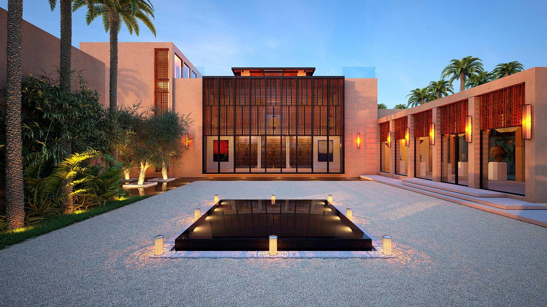 Perspective D Une Villa : Perspective d pour un projet immobilier une villa au maroc
