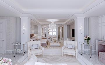 Visualisation 3D Du0027une Chambre Pour Une Projet De Villa De Luxe. Perspective  ...
