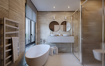 Image numérique d'une salle de bain en 3D