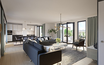 Luxury Architecture Project Île-de-Ré, photo of a 3D perspective