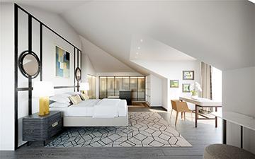 Chambre de villa style provencal - Création par Valentinstudio 3D