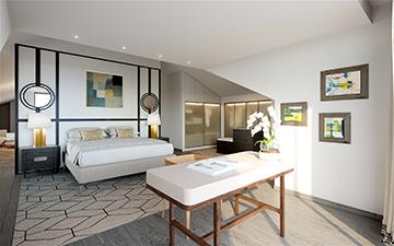 Photo 3D d'une chambre pour un projet de villa