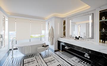 Rendu 3D de salle de bain de luxe dans une villa à Cannes