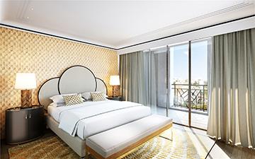 Rendu 3D de chambre pour un projet immobilier de luxe - Studio 3D