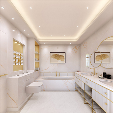 Perspective 3D salle de bain de luxe