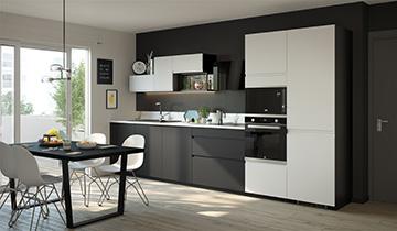 Perspective 3D d'une cuisine pour de la publicité