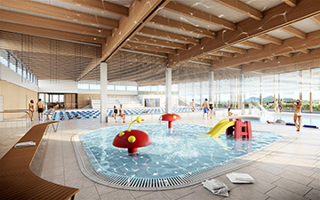 Visualisation photo 3D d'une piscine réalisée pour un concours