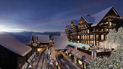 Perspective en image de synthèse d'un Resort à Oron en Suisse.