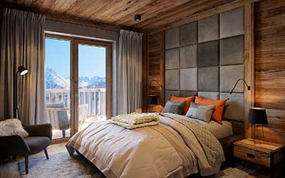 3D Perspective View Of A Room Of A Luxurious Chalet Created By A  Professional 3D Architect